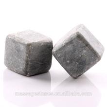 2 grigio marmo pietra ollare whisky roccia ghiaccio cubo