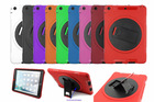 Rugged swivel kickstand cover for iPad mini/mini 2 bumper skin