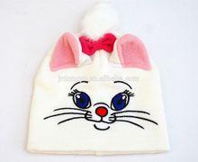 girls lovely cat knitted beanie hat