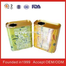 Konwah Aluminum Olive Oil Can For Embossed Or Debossed