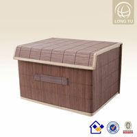 Pop small storage bamboo basket hamper for home decoration