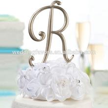 Gold Monogram Letter Wedding Cake Topper Pick