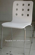 YP-402D white wood bar relaxing chair wooden modern dining room chair