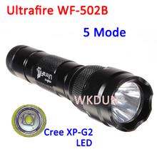 UltraFire WF-502B Cree XP-G2 Gen2 G2 LED 5-Mode Orange Peel bulk led flashlights cheap flashlight