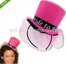 2014 Pink BRIDE TO BE Fancy Dress MINI Top Hat Headband WEDDING ACCESSORIES