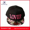 Custom Flat Peak Snapback Hat/Flat Bill Snapback Hat/Flat Brim Hip Hop Cap
