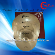 "TF brass cymbal set:14""16""18"" Brass cymbal cymbals for drums"