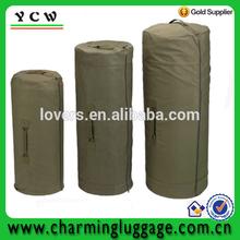 green zipper military duffle bag