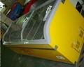 598l 1098l più grande gelato congelatore con porta in vetro curvato con ce cb