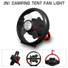 Portable Hanging Stand Camping Hiking Tent Ceiling Fan LED Light lithium battery lamp