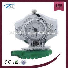silver alloy fruit shape analog ring flip open watch