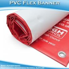 SINO White Blockout-Black Pvc Vinyl Flex Banner /Pvc blackout flex banner glue