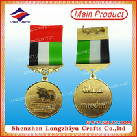 Sandy effect pewter religous medals casting military medals