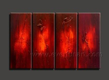 Modern framed abstract nude female body art painting