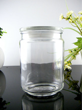lovely decorative glass storage herb jar & giftware