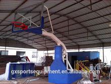 Manual hydraulic basketball goal