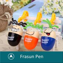 Extend Egg Shape Facial Bean Keychain Advertising Felt Pen