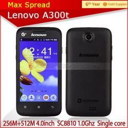 original 4.0inch lenovo a300t single core multilanguage branded smart phone