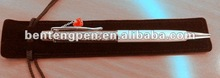Elegant element crystal ball pen with red heart pendant P10199