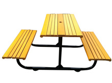 Public garden outdoor bench seat