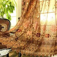 M-91 2014 fashion wholesale curtain fabrics turkey 248cm*242cm ring type ready made