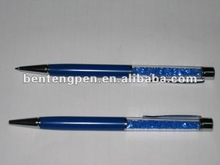 NEW!dark blue crystal pen with dark blue stone/bulk buy from china P10174