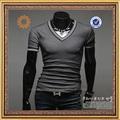 2014 nueva moda corea del hombre delgado- montaje t- shirt ropa para hombre para el verano
