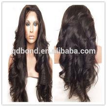 Fashion Pretty Peruvian Human Hair Wavy Front Lace Wigs