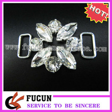 Stunning Stone Flower Silver Crystal Connectors/buckles for Swimming Wear Bikini Decoration