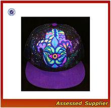 HX302 Black Leather Snapback Caps/Customizing Black Snapback Cap&Hat/ High Quality Baby Hat Snapback Cap