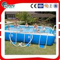 de plástico de pvc de color azul por encima del suelo portátil inflable de la natación de las piscinas