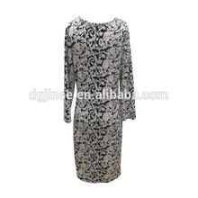 New Faction Rose Printing Vintage stylish Lady Slim-fitting Cotton Dresses
