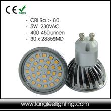 5W 450 Lumen Die-Cast Aluminum GU10 LED Lamp Light Bulb
