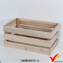 natural wood skin antique indoor wooden planters