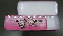 hot sale tin pencil box with tray inside