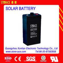 2 volt solar Battery 2v 200ah maintenance free battery