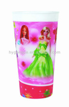 cartoon plastic kids water drinking cup