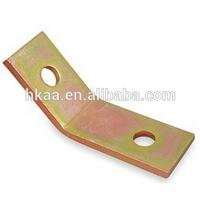 precision custom zinc plated steel 45 degree angle bracket