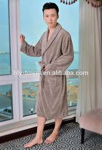 new fashion cheap patterned100% cotton velour bathrobe for man