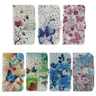credit card solt leather flip case for sony xperia c case back cover