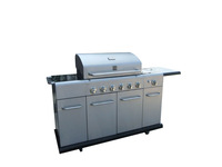 Oven inside 6B+SB Professional big gas grill outdoor PG-40613S0LA