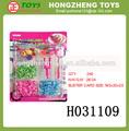 venta caliente chenghai mini juguete de bricolaje banda elástica telar de la máquina para hacer punto del telar de caucho pulsera conjunto h031109