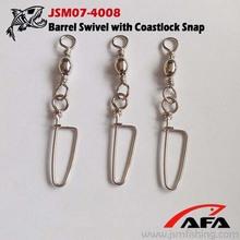 wholesale fishing goods barrel swivel with coastlock snap JSM07-4008