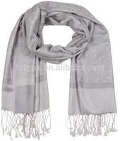 Silk Paisley Self-design Pashmina Shawl / Wrap / Stole