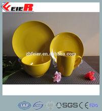yellow ceramic dinnerware