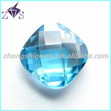 Wholesale 3x3mm square aquamarine cubic zirconia CZ stone