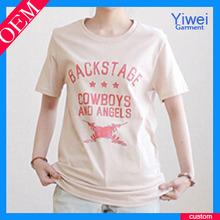 2014 Cotton Tshirt Printing For Women Manufacturer T Shirt