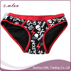 Skull printing young ladies sexy fancy panty thong