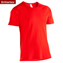 Bright Red Plain Color Blank Short Sleeve Summer Australia SPF50 Sport Tee Shirt
