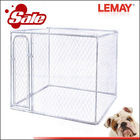 High quality hot sale fashion silver dog kennel in pet cages, carriers & houses